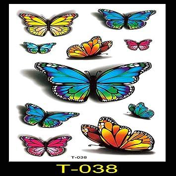 9 piezas pegatinas de tatuaje a prueba de agua pegatinas de ...