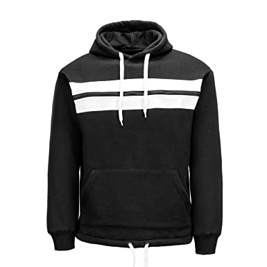 9e6bb35ae PTSports Mens Fashion Active Hoodies Pullover Fleece Camping Sweatshirts  for Men Black Small