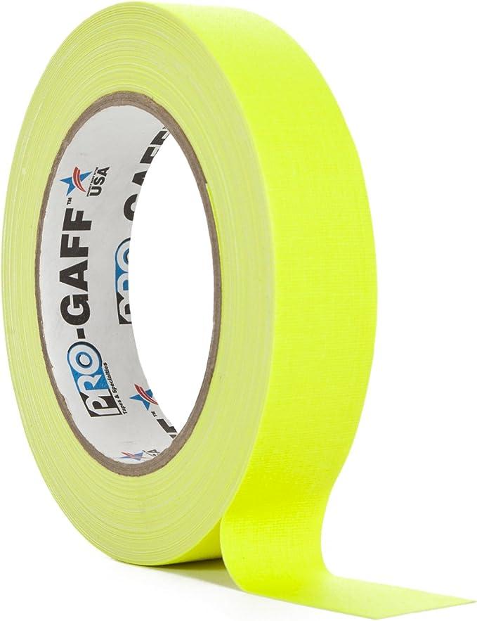 ProTapes/Permacel PROGAFF24NYE - Cinta adhesiva (24 mm x 23 m), color amarillo: Amazon.es: Instrumentos musicales
