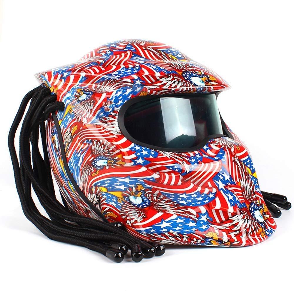 ONLY ME Motocicleta Jagged Warrior depredador Casco Delantero Flip ...