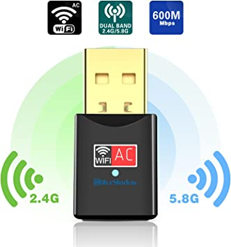 600Mbps Mini Wireless USB Wifi Adapter Adaptor 802.11ac//b//g//n// Network Dongle US