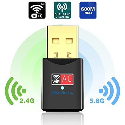 USB Wifi Adapter 600Mbps Dual Band 2 4G/5G Mini Wi fi