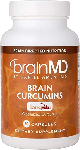 Dr. Amen brainMD Brain Curcumins – 500 mg, 60 Capsules – Memory Cardiovascular Support Supplement, Promotes Healthy Stress Response, Antioxidant – Gluten-Free – 60 Servings