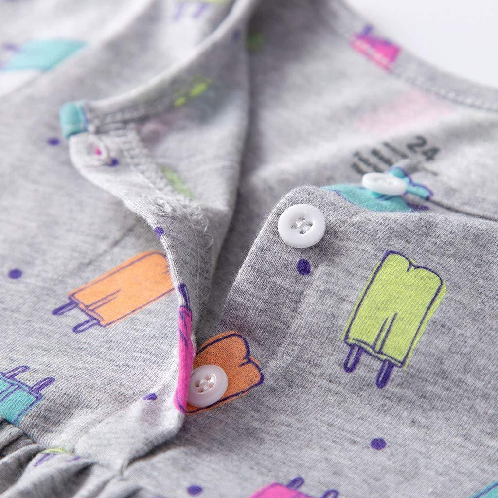 Amazon.com: Hatop Toddler Kid Baby Girl Short Sleeve Floral Dress ...