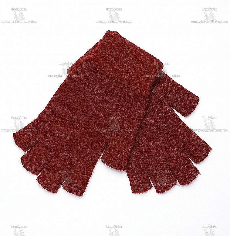 Wool Mitt Exposed Fingertip...