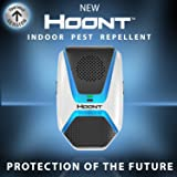 Hoont Advanced Indoor Electronic Pest Repeller + LED Night Light – Works for Ants, Roaches, Spiders, Bugs, Fleas, Rats, Mice, , Bats and much more - Get Rid of All Types of Insects and Rodents