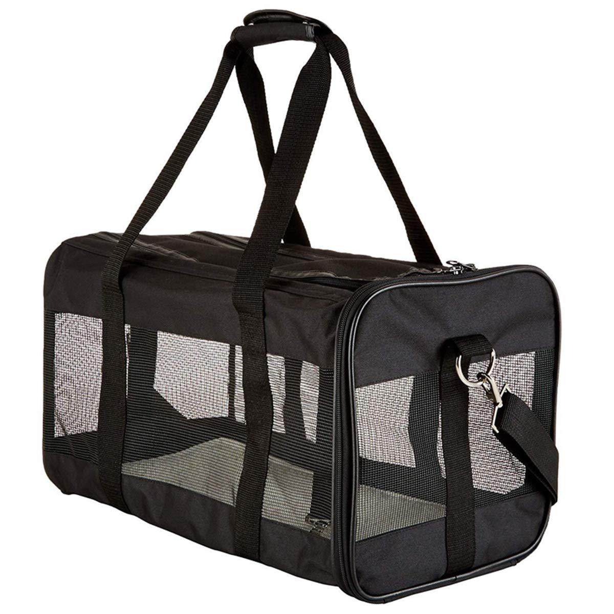 Black 432426cm Black 432426cm Lightweight Pet Carrier Crate,Shoulder Travel Bag Outdoor Pouch Mesh Shoulder Carry Bag Tote Handbag,Black,43  24  26cm