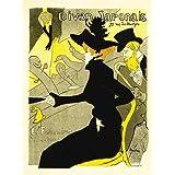 Wee Blue Coo Culture Cafe Concert Japanese Paris Toulouse-Lautrec Vintage Art Print Poster Wall Decor 12X16 Inch