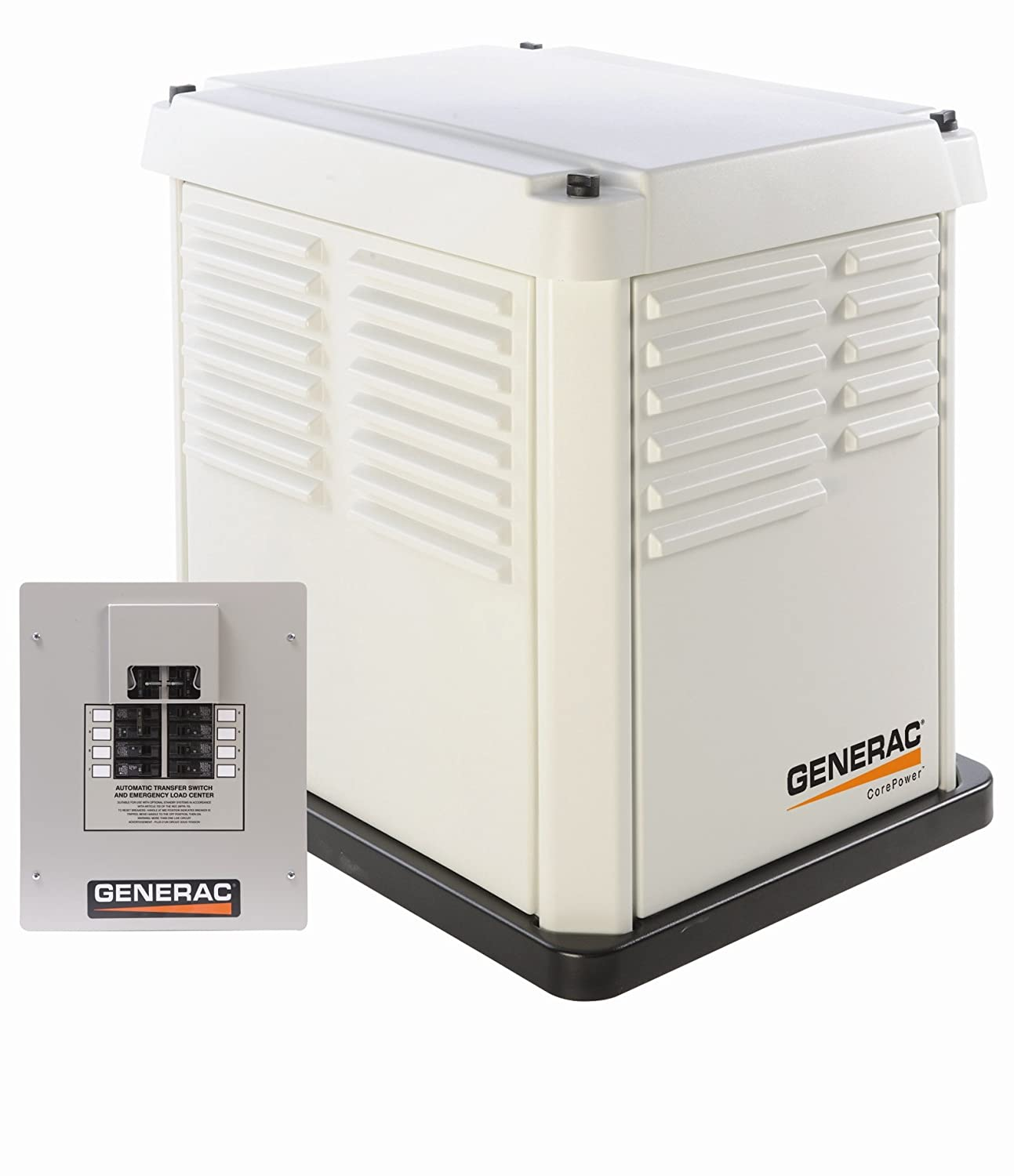 Generac 5837 Corepower Series 7000 Watt Air Cooled Natural Gas Wiring Instructions Liquid Propane Powered Standby Generator With Transfer Switch Garden