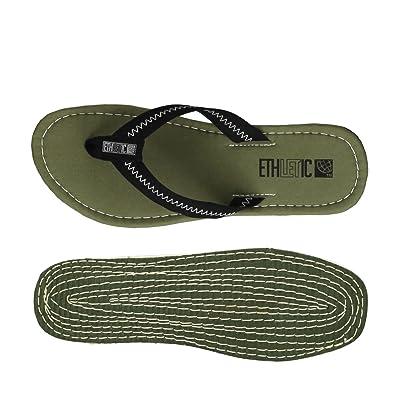 Ethletic Fair Flip Vegan Classic - Farbe Jet Black/Camping Green Aus Bio-Baumwolle Größe 40 SXqlNZFU2