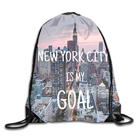5389f9822f Amazon.com   New York City Men & Women Sport Gym Sack Dancing Bag ...