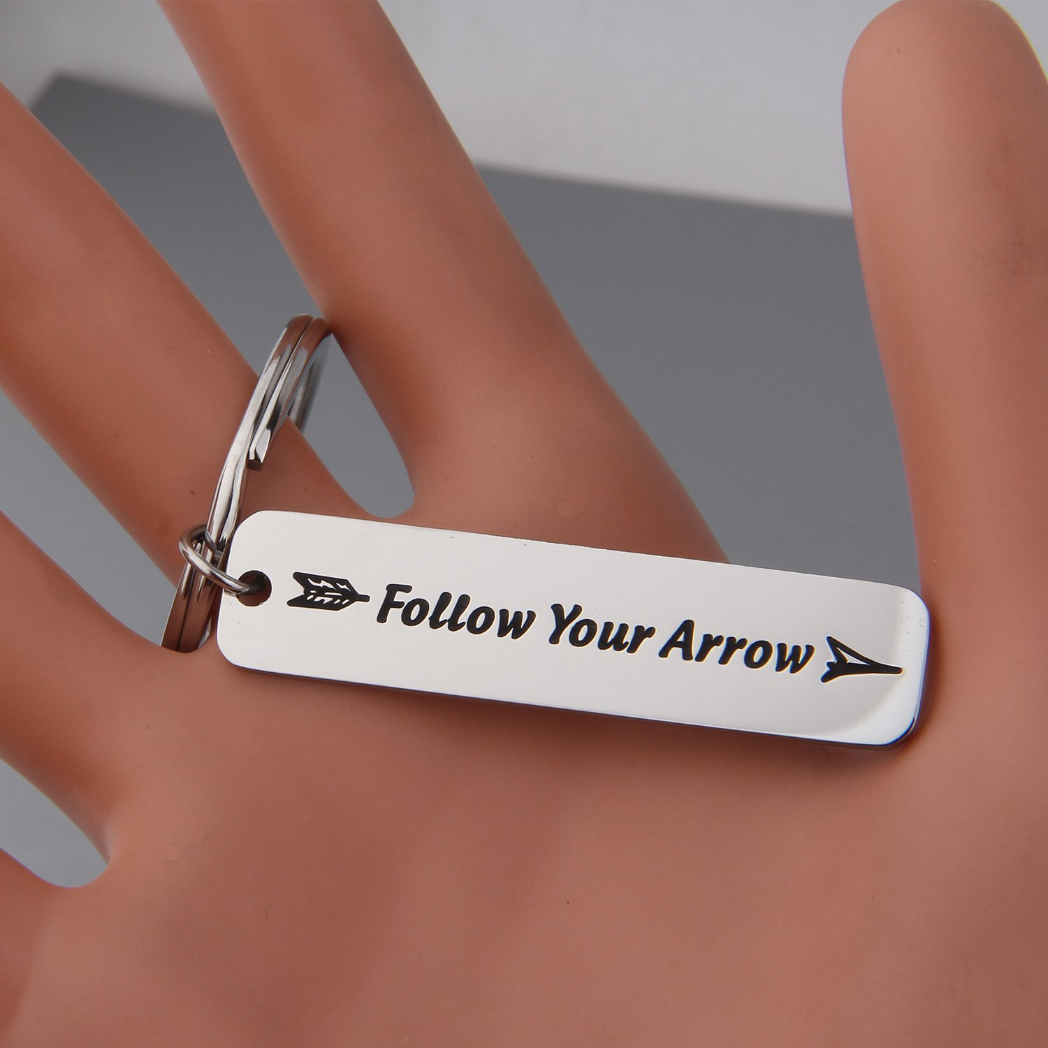 KUIYAI Follow Your Arrow Keychain Inspirational Quote Pendant Wanderlust Travel Jewelry (Keychain) by KUIYAI (Image #5)
