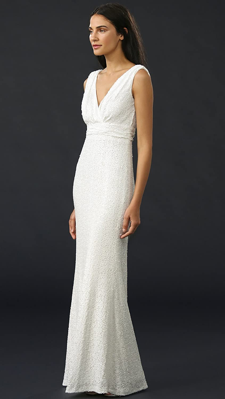 Amazon.com: Badgley Mischka Collection Women\'s Belle Carmen Gown ...