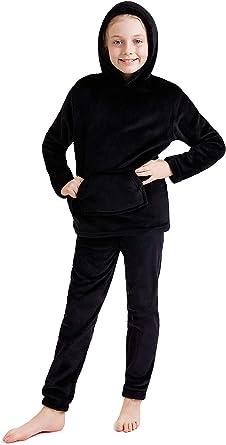 CityComfort Pijama Niño, Pijamas Niños de Invierno, Pijama Polar Niño con Sudadera y Pantalon, Regalos para Niños y Adolescentes 7-14 Años