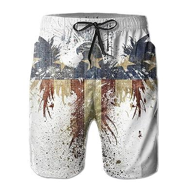 Beach Yoga Pants, Hawk American Flag Beach Pants Shorts for ...