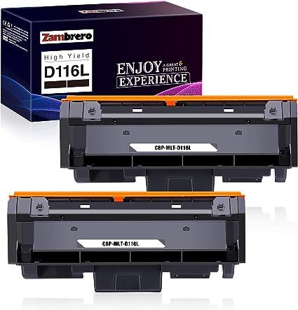 Zambrero D116l Toner Compatible For Samsung Mlt D116l For Samsung Xpress Sl M2675fn M2675 M2875fd M2835dw M2885fw M2875fw M2825nd M2825dw M2885 M2875 M2625 2 Black Bürobedarf Schreibwaren