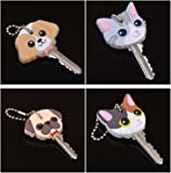 Yosoo Super Funky Dog and Cat Key Caps Key Identifier Caps Key Covers, 4 Pack, Assorted in Color and Style