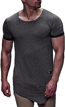 Camiseta de Hombre Camisa de Manga Corta para Hombres Blusas ...