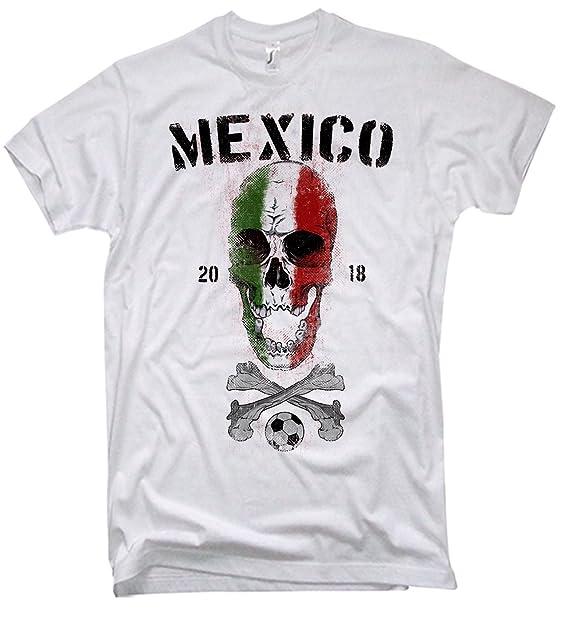 NG articlezz Camiseta De Los Hombres Mexico Calavera Copa del Mundo de Fútbol 2018 México s-5xl: Amazon.es: Ropa y accesorios
