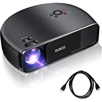 Tainidi Full HD 1080p 3600-Lumens LCD Home Theater Projector with HDMI Cable