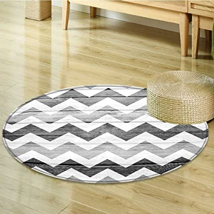 Grey Circle Carpet Geometric Illustration Decorations By Nalahomeqq Chevron  Pattern On Wood Background Design Bedroom Living