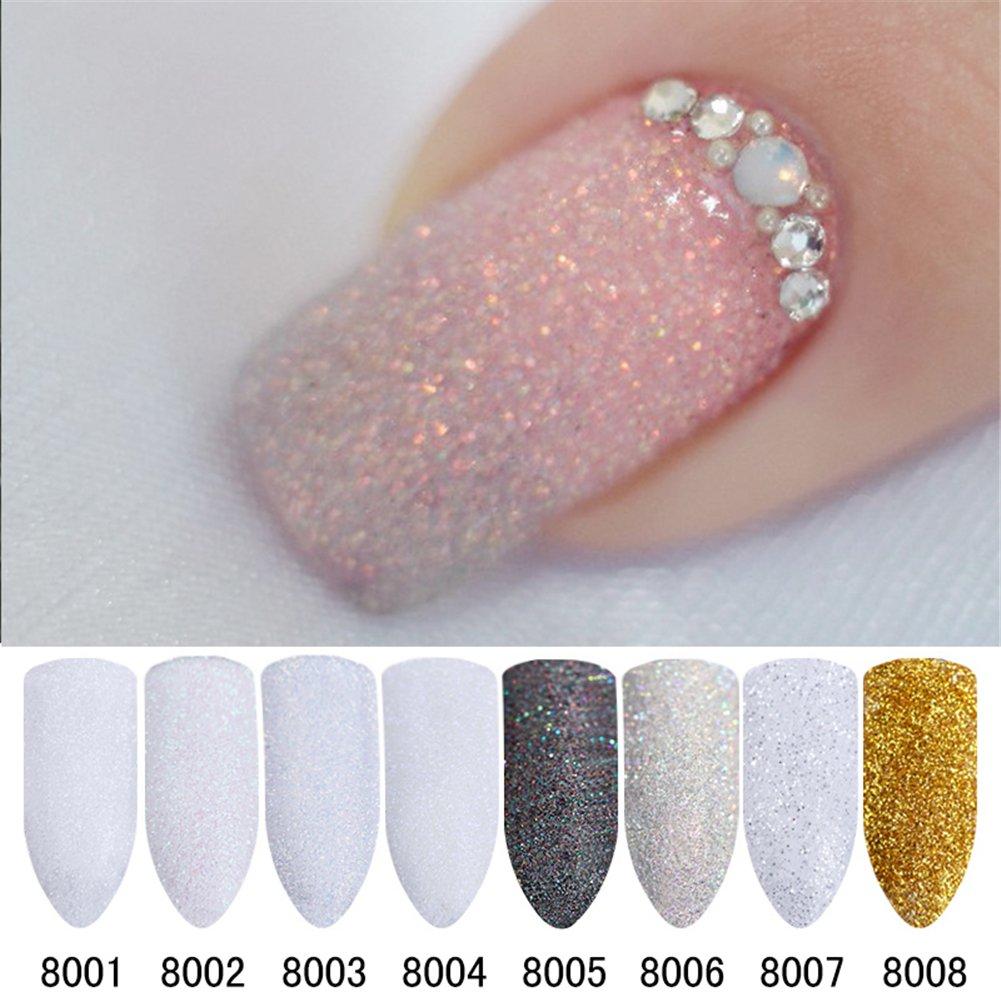 Born Pretty Gradient Nail Glitter Powder Shining Sugar Chrome Pigment Dust Powder Nail Art Decoration