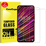 2 Pack - UMIDIGI F1 Tempered Glass, CaseExpert Tempered Glass Crystal Clear Screen Protector Guard & Polishing Cloth for UMIDIGI F1