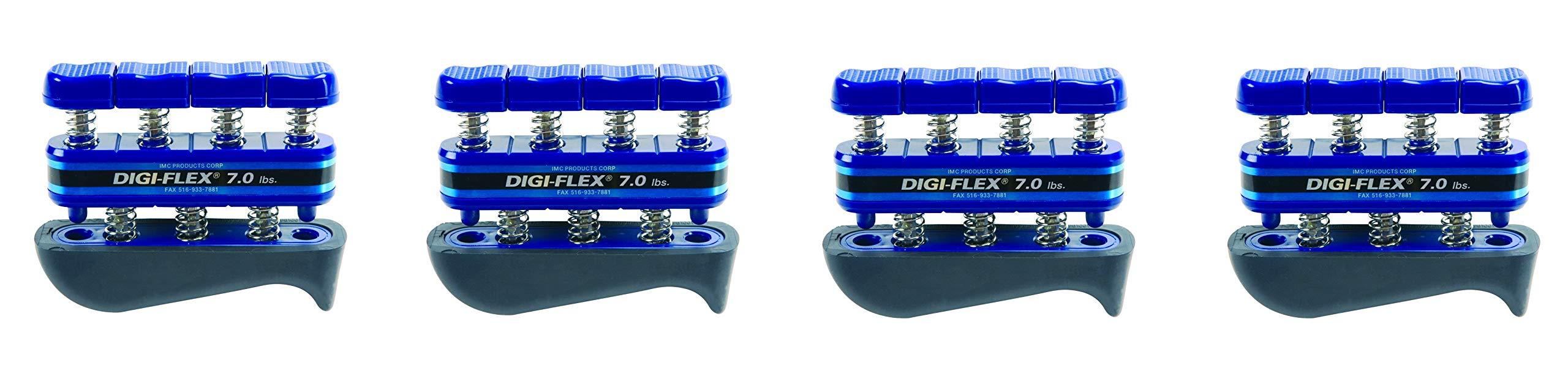 Digi-Flex Blue Hand and Finger Exercise System, 7 lbs Resistance (4-Pack)
