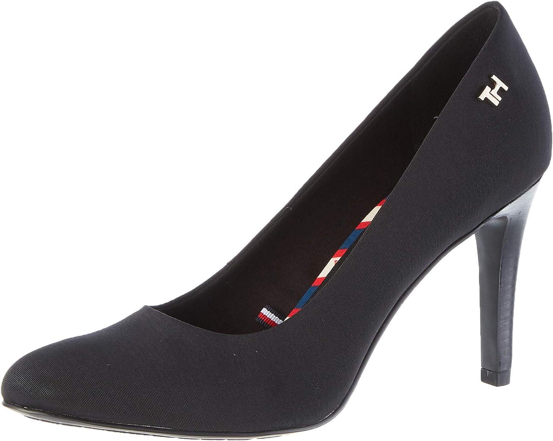 Tommy Hilfiger Essential Textile Pump, Zapatos de Tacón para Mujer