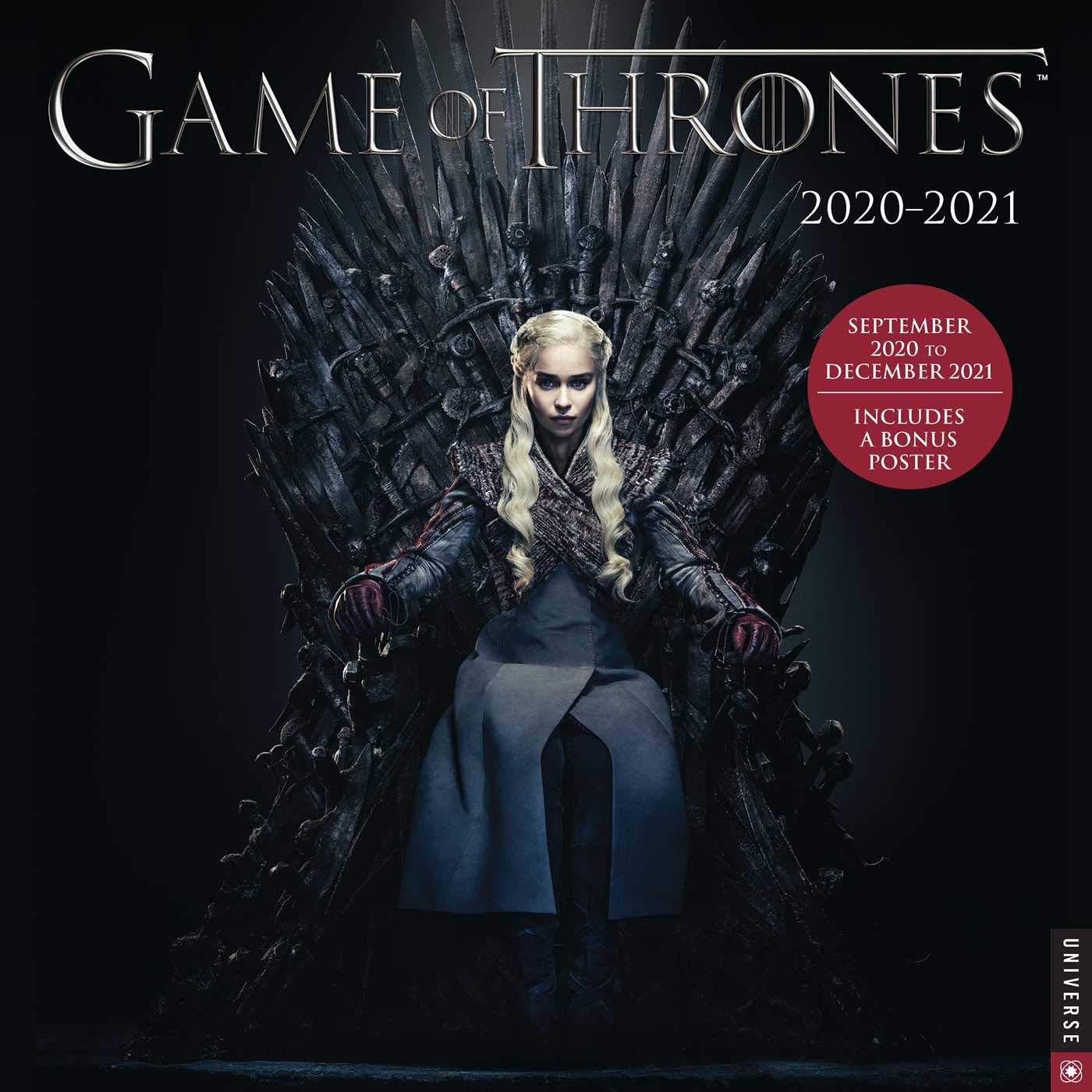 Game of Thrones 2020 2021 16 Month Wall Calendar: Warner Brothers