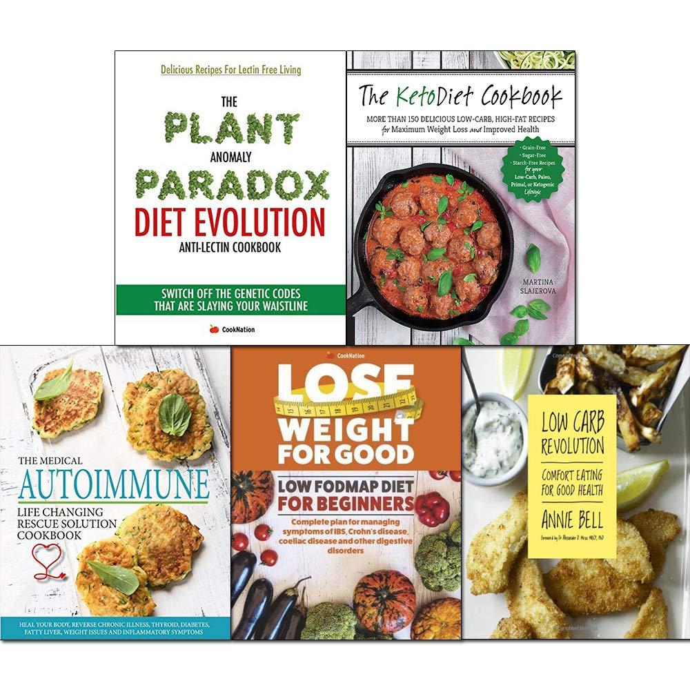 Ketodiet cookbook, low carb revolution, fodmap diet for