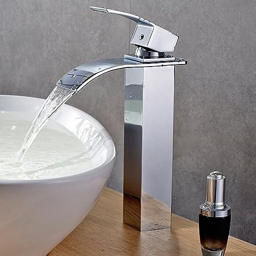Miscelatore inox lavabo - Rubinetto bagno cascata ...