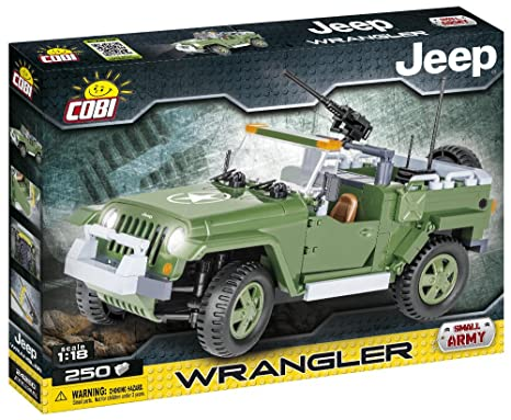 Amazon Com Cobi Jeep Wrangler Military 1 18 Scale Building Blocks