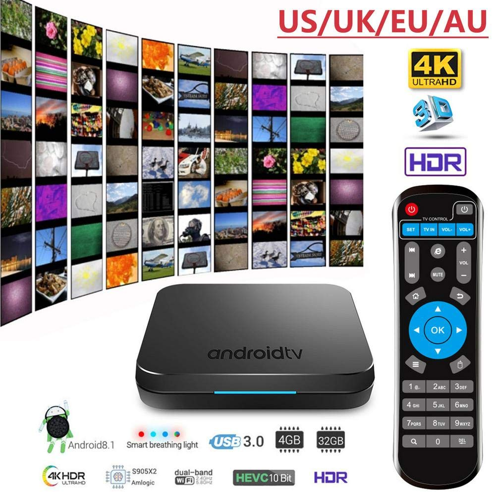 KM9 Android 8.1 TV BOX S905X2 Network Bluetooth Edition Set Top Box 4+32G 4K WIFI by Oshide (Image #2)
