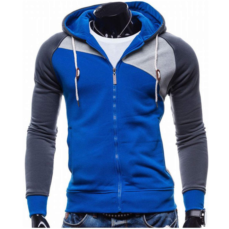 Cyose Fashion Mens Hoodies Leisure Zipper Jacket Hoodie Slim Men Hoody Sweatshirts