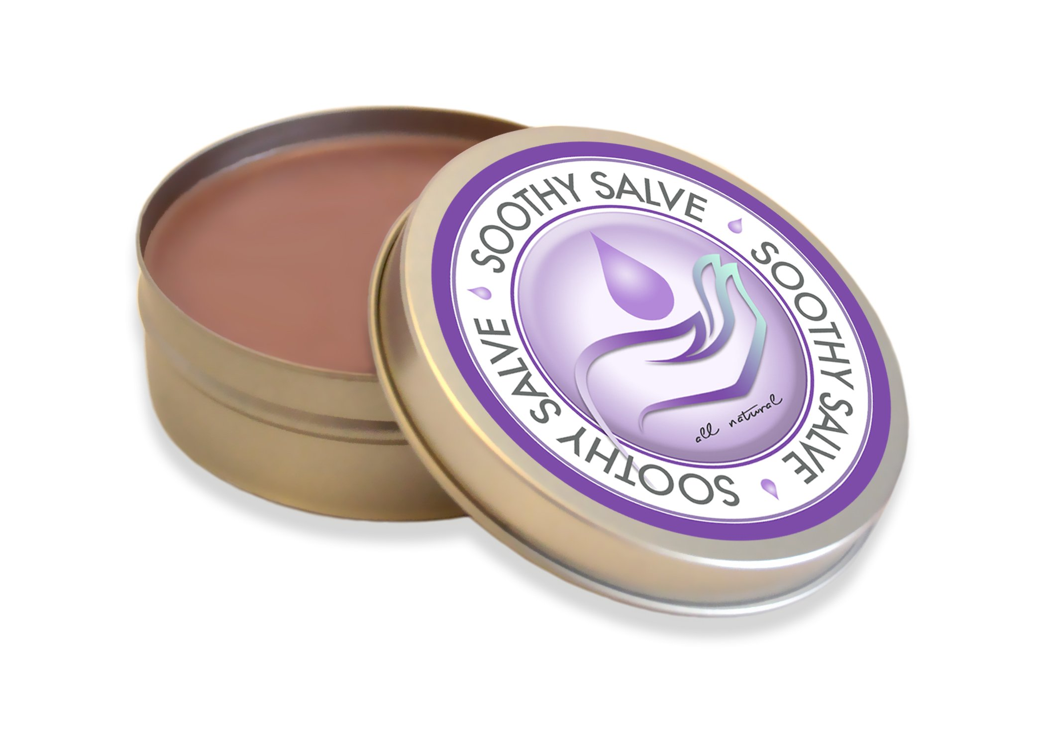 Soothy Salve, Made with Organic and All Natural Ingredients, Organic Coconut Oil and Pure Essential Oils. 4oz, Dry Skin