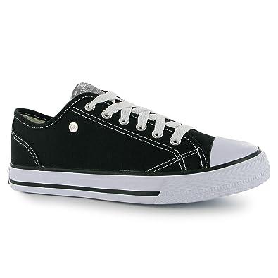 Damen Canvas Sneaker Turnschuhe Freizeit Sport Schuhe Leinenschuhe Weiß/Weiß 4 (37) Dunlop iyrgZWA