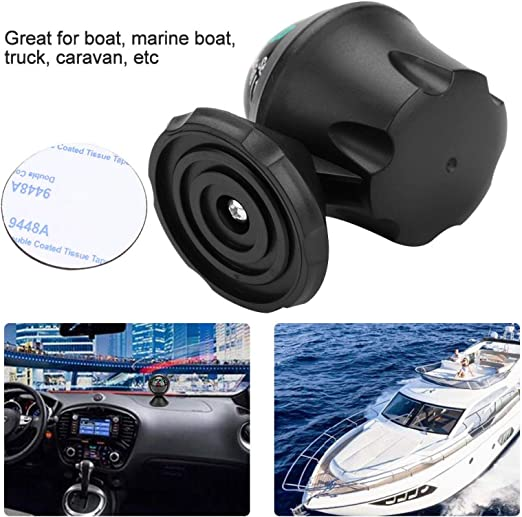 Black Ejoyous Boat Compass High Precision Car Compass Dashboard Suction Electronic Navigation Ball Marine Compass with LED Light Pivoting for Marine Boat Ship Truck Camping Hiking