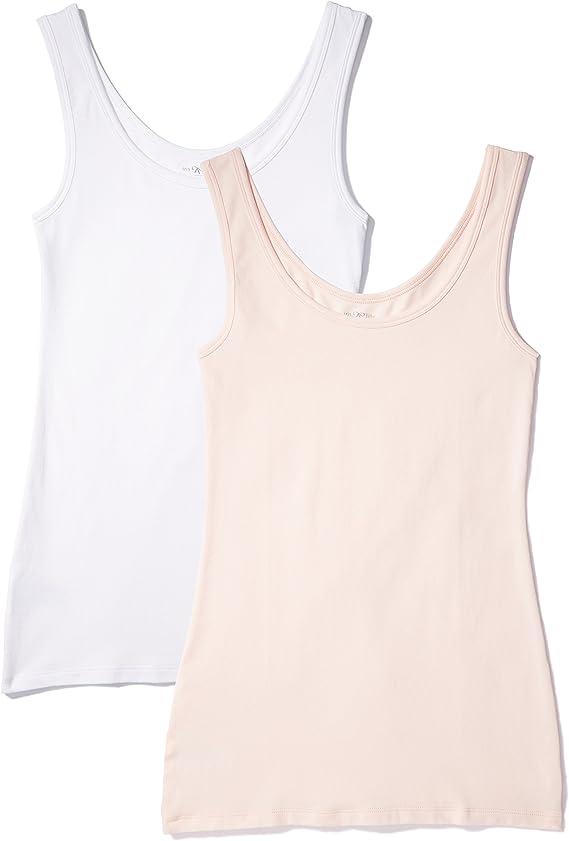 X-Small Iris /& Lilly Canotta Body Natural Donna Multicolore Pacco da 2 White//Print Dot Marchio
