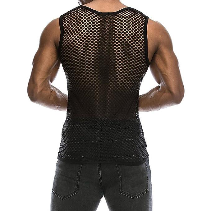 Nuevo Chaleco de Malla Sexy Camiseta Deportes Camisetas Hombre sin ...