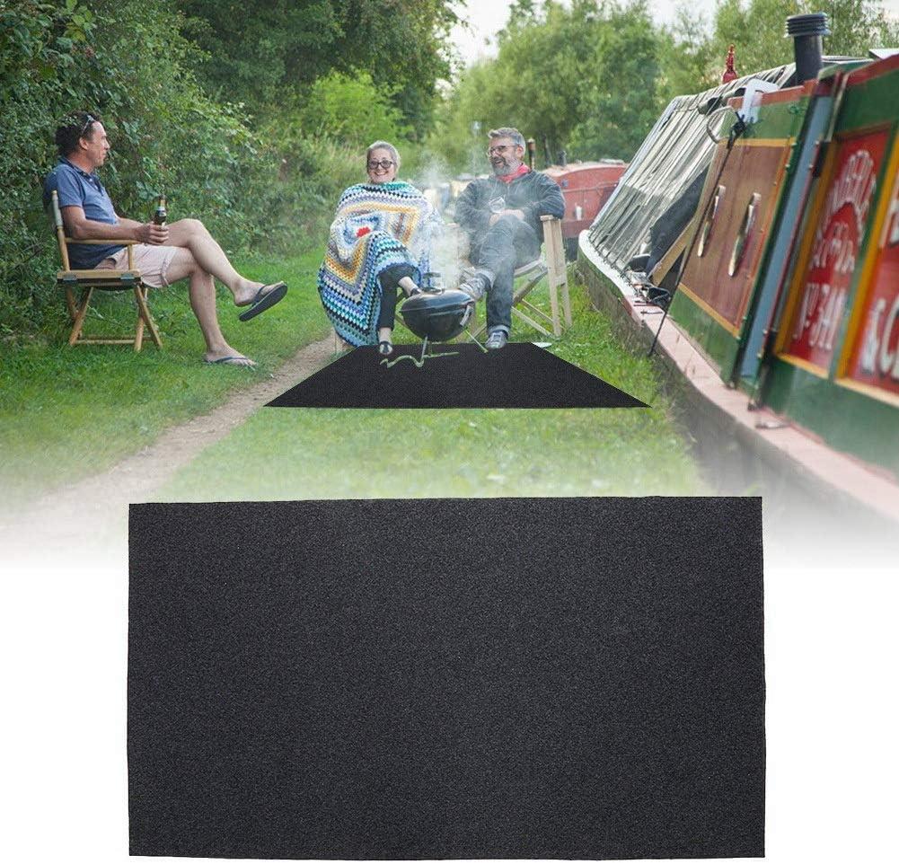 Barbecue Flame Fireproof Heat Resistant Floor Rug Non Stick BBQ Gas Grill Splatter Mat Nikou BBQ Floor Mat for Backyard Indoor Outdoor Floor Protective Rug