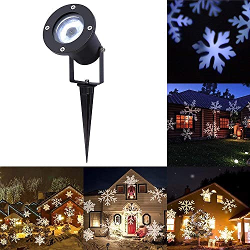 MUXAN Christmas Projector Light, Projector Christmas LED Lights Outdoor Waterproof Snowflake Projector Lights for Outside Garden Ballroom Party Halloween Holiday Landscape Decorative