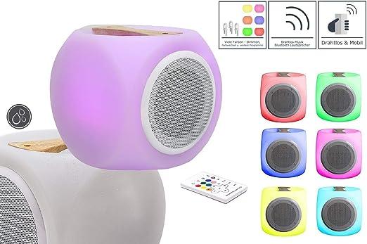 7even LED Altavoz con Cambio de Color, Bluetooth LED Caja de ...