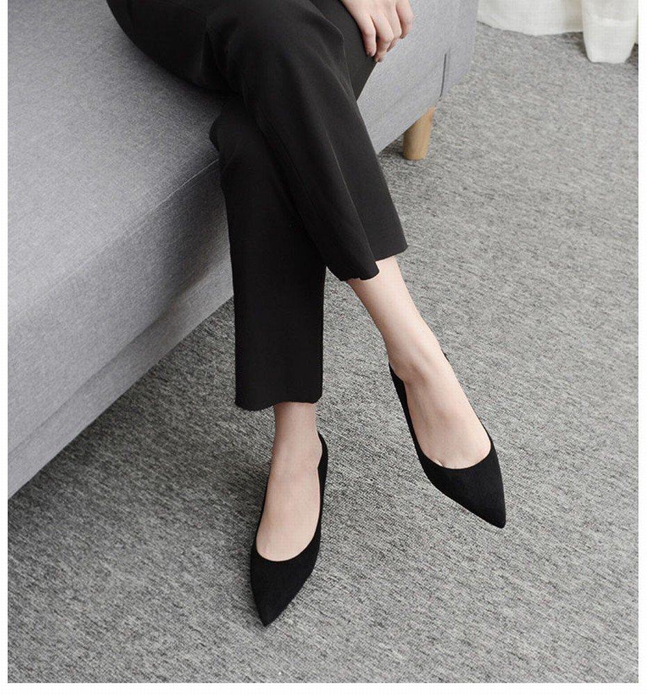 CXY High-Heeled Schuhe Frauen Größe Größe Arbeit Schuhe Weiblich Schwarz Spitz High Heels Weiblich Gut mit Schwarz 36