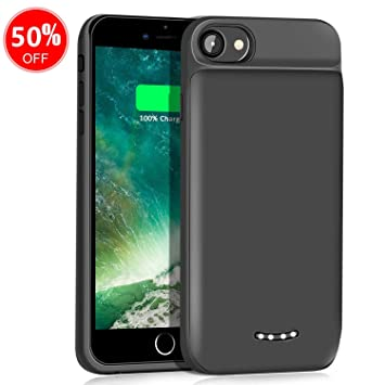 YPLANG Funda Bateria para iPhone 6/6s/7/8, 5000mAh Carcasa Batería Cargador Externa, Rechargable Portatil Protector Backup Power Bank Charger Case ...