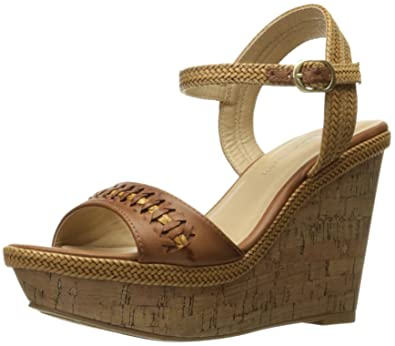 CL by Chinese Laundry Women's Cynthia Wedge Pump Sandal, Camel Burnished,  ...