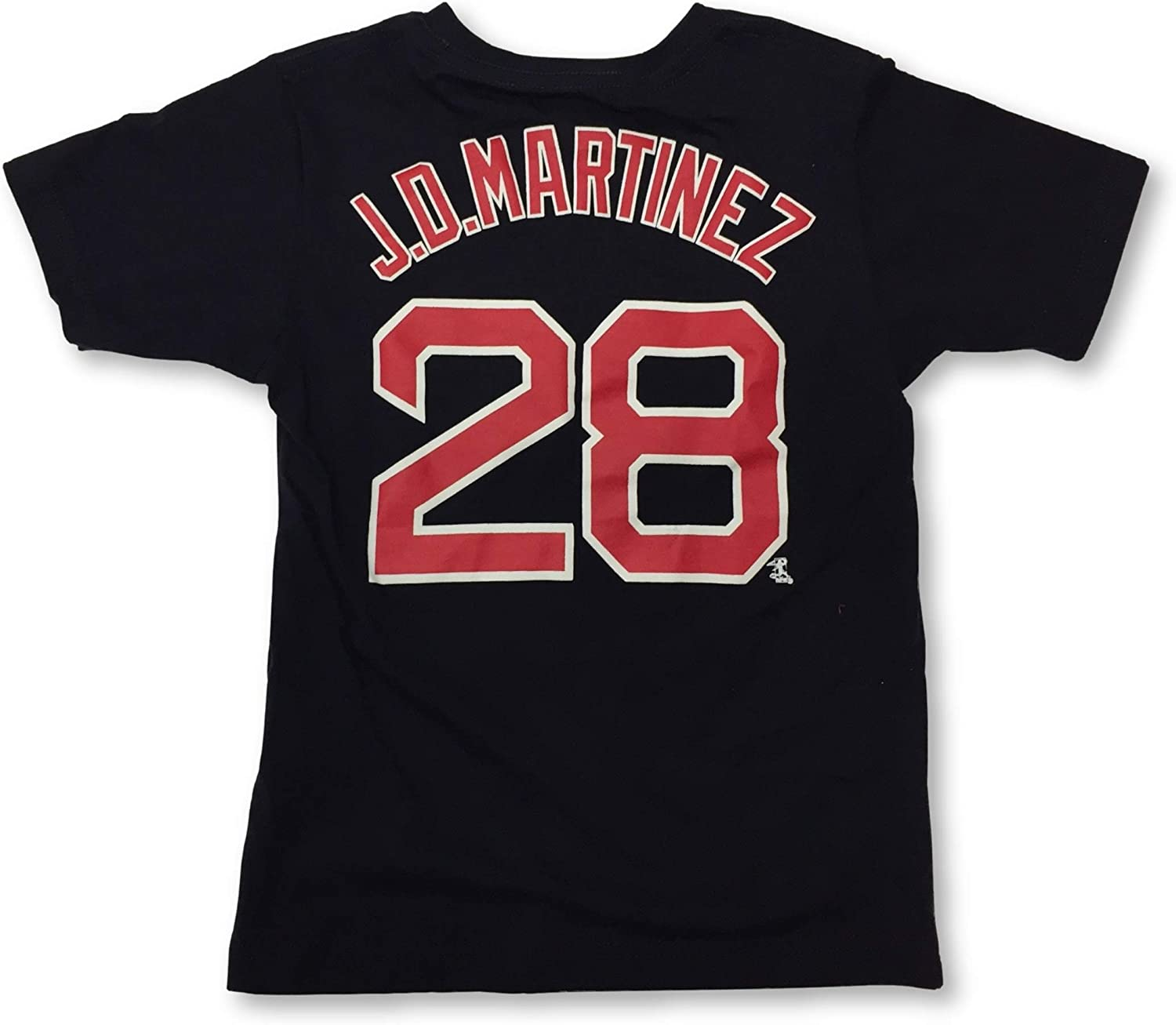 Boston Red Sox Boys Youth J.D Martinez #28 Player Name and Number Jersey T-Shirt