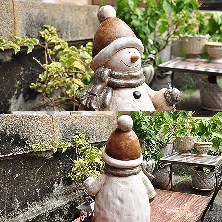 AFCITY-Garden Figurines para jardín, Escultura rústico Retro Linterna muñeco de Nieve Adornos de Navidad Inicio Jardín Jardinería óxido de magnesio Decoración para Jardines en Miniatura: Amazon.es: Hogar