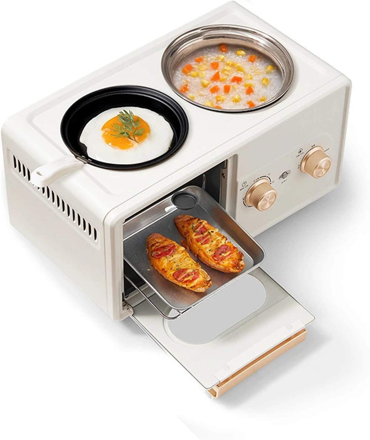 GMZS Toaster Oven, Household Multifunctional Four in One Breakfast Cooking Toaster, The Oven Has Double U-Shaped Heating Pipes, for Kitchen Appliances,White