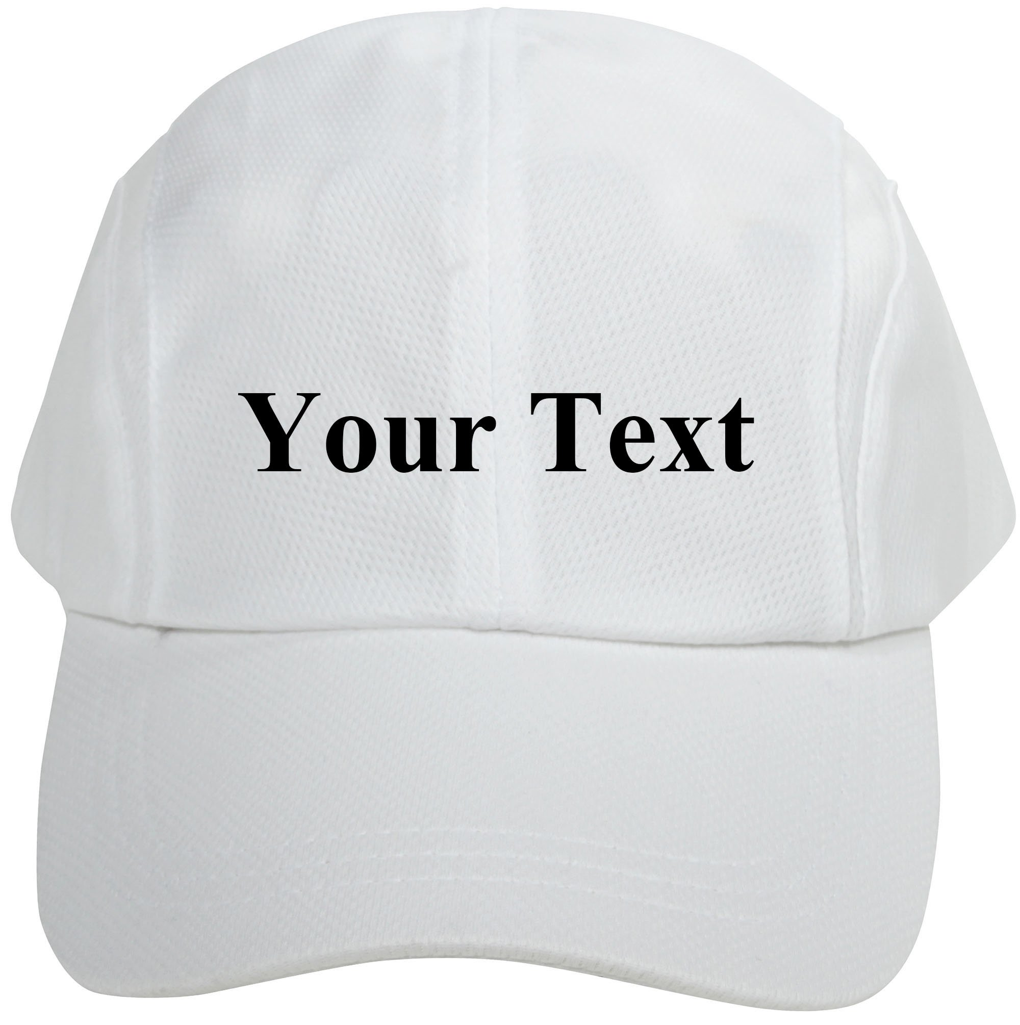 Personalized Unisex Breathable Quick Dry Adjustable Sports Baseball Cap White